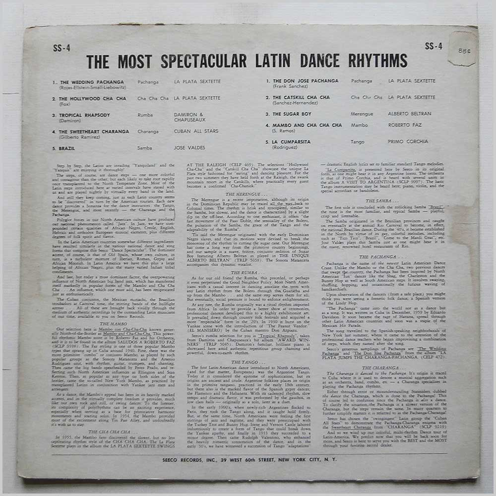 Various - The Most Spectacular Latin Dance Rhythms (SS-4)