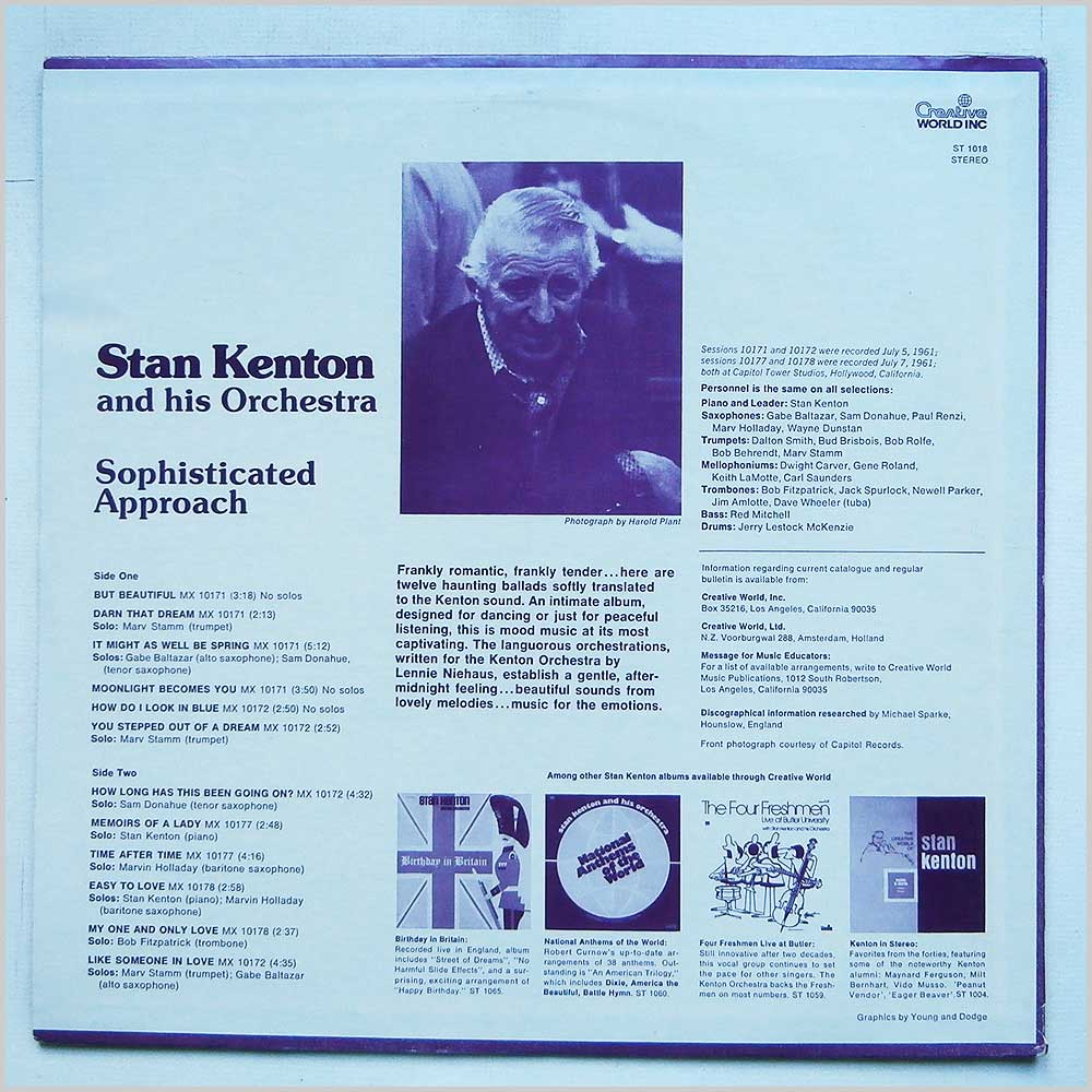 Stan Kenton - Sophisticated Approach (ST 1018)