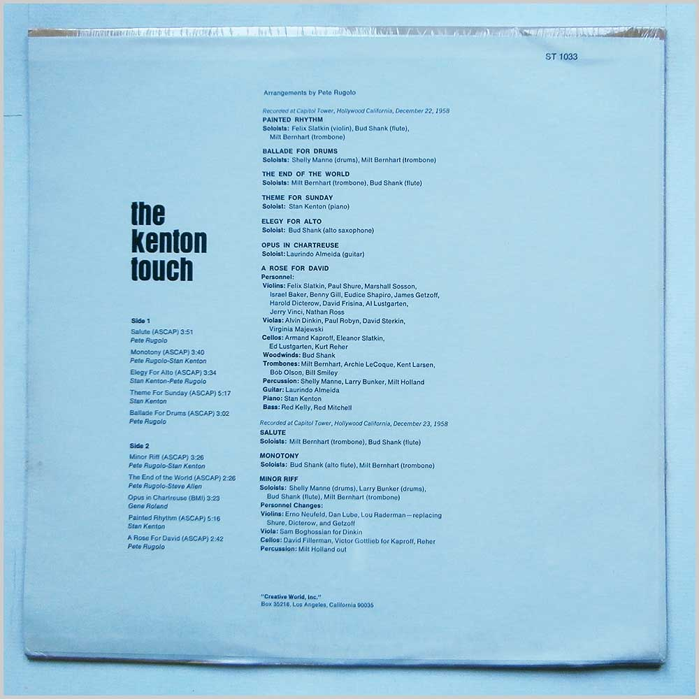 Stan Kenton - The Kenton Touch (ST 1033)