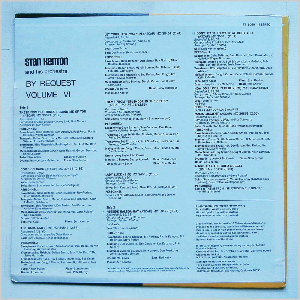 Stan Kenton - By Request Vol VI (ST 1069)
