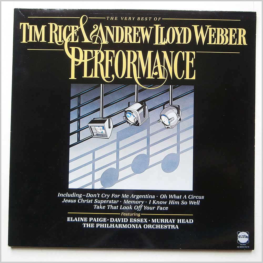 Tim Rice And Andrew Lloyd Webber - Performance, The Very Best Of Tim Rice And Andrew Lloyd Webber (STAR 2262)