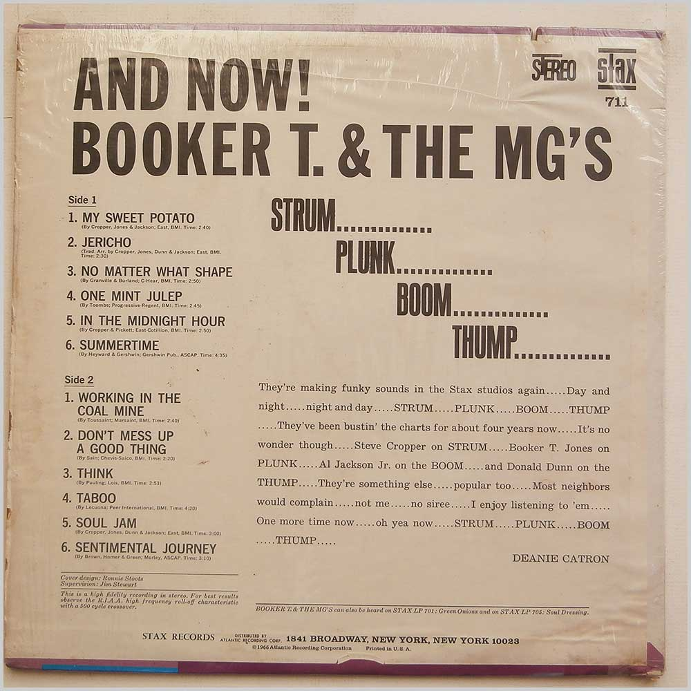 Booker T. and The MG'S - And Now! (STAX 711)
