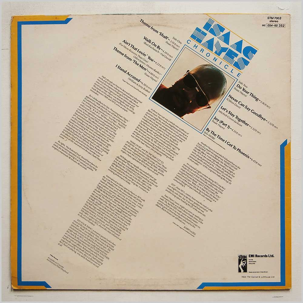 Isaac Hayes - The Isaac Hayes Chronicle (STM 7003)