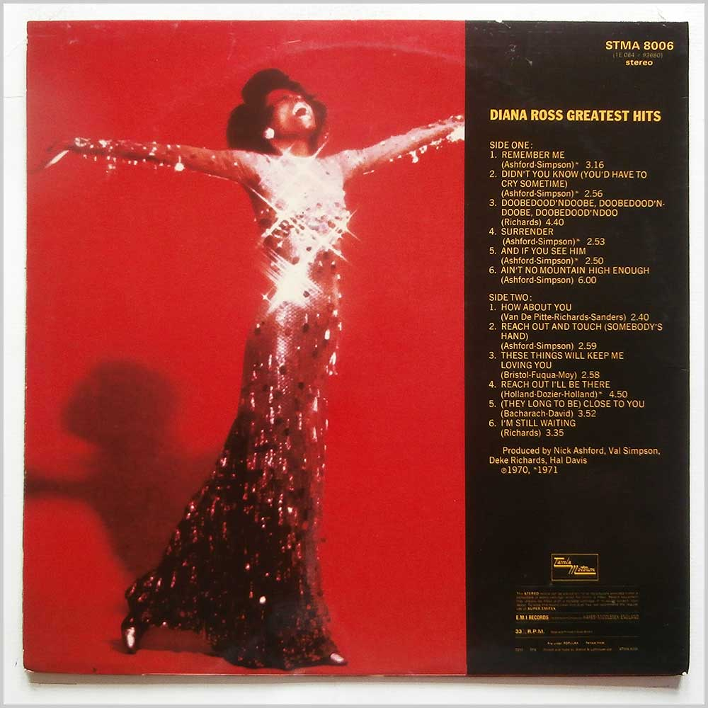 Diana Ross - Greatest Hits (STMA 8006)