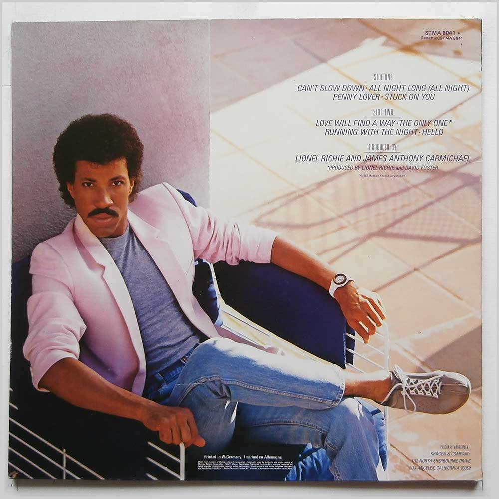 Lionel Richie - Can't Slow Down (STMA 8041)