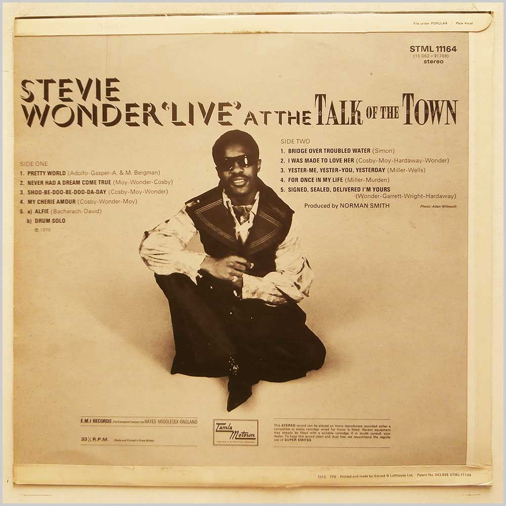 Stevie Wonder - Live At The Talk Of The Town (STML 11164)