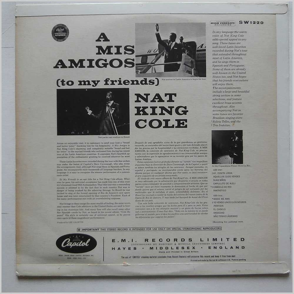Nat King Cole - A Mis Amigos (SW 1220)