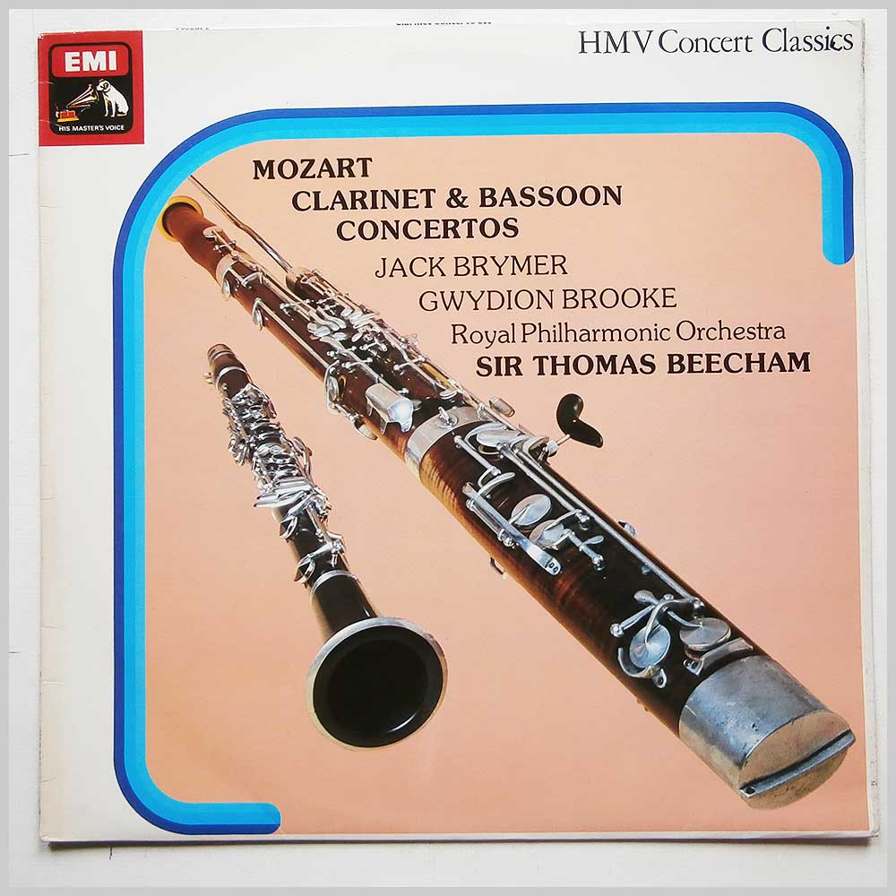 Sir Thomas Beecham, Royal Philharmonic Orchestra - Mozart: Clarinet and Bassoon Concertos (SXLP 30246)