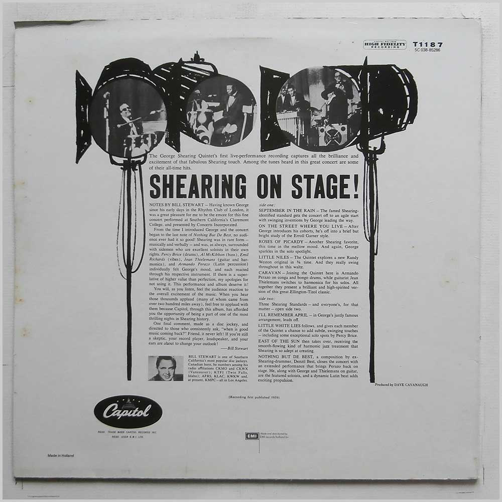 The George Shearing Quintet - Shearing On Stage (T1187)