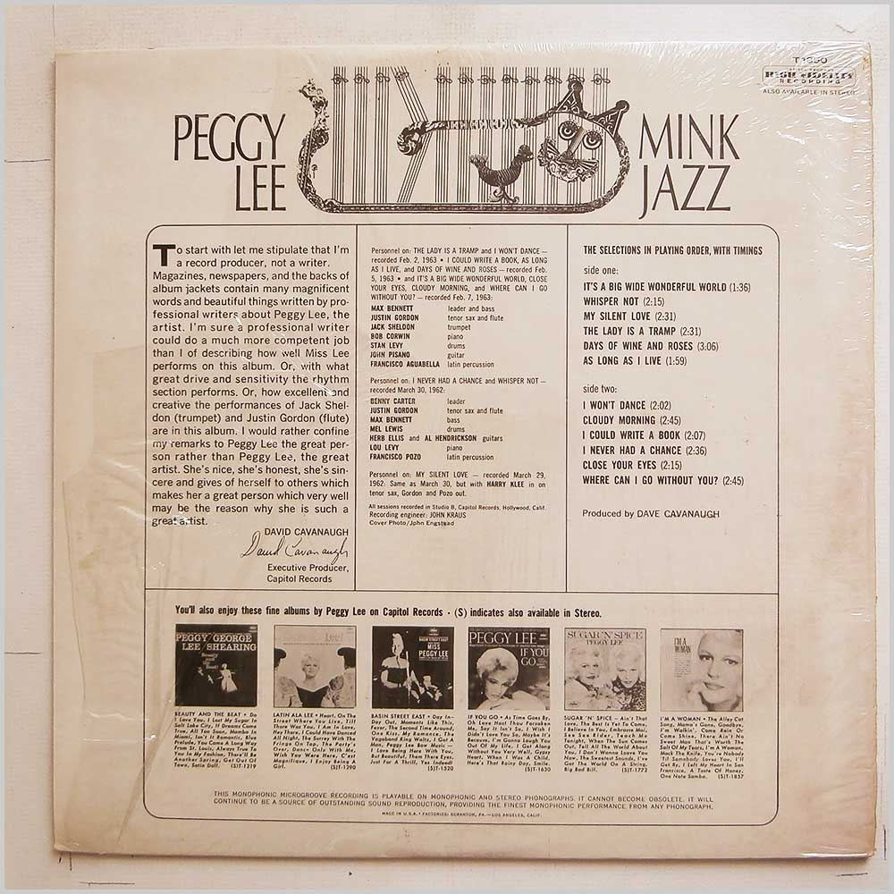 Peggy Lee - Mink Jazz (T 1850)
