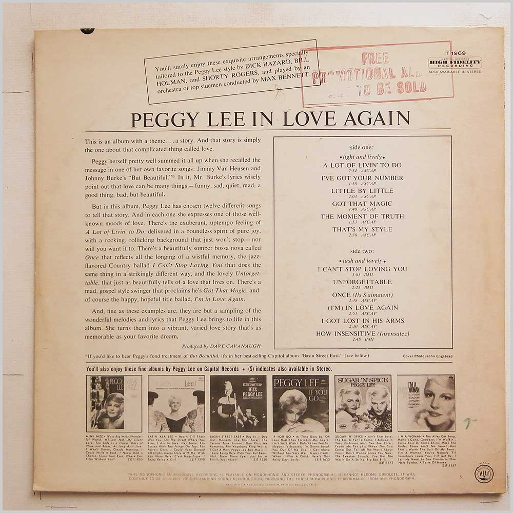 Peggy Lee - In Love Again! (T 1969)