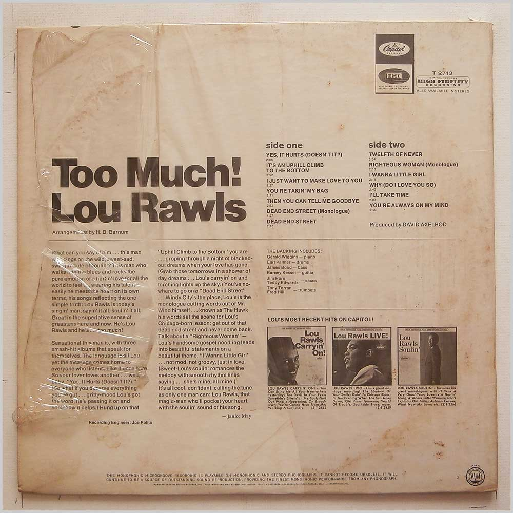 Lou Rawls - Too Much! (T 2713)