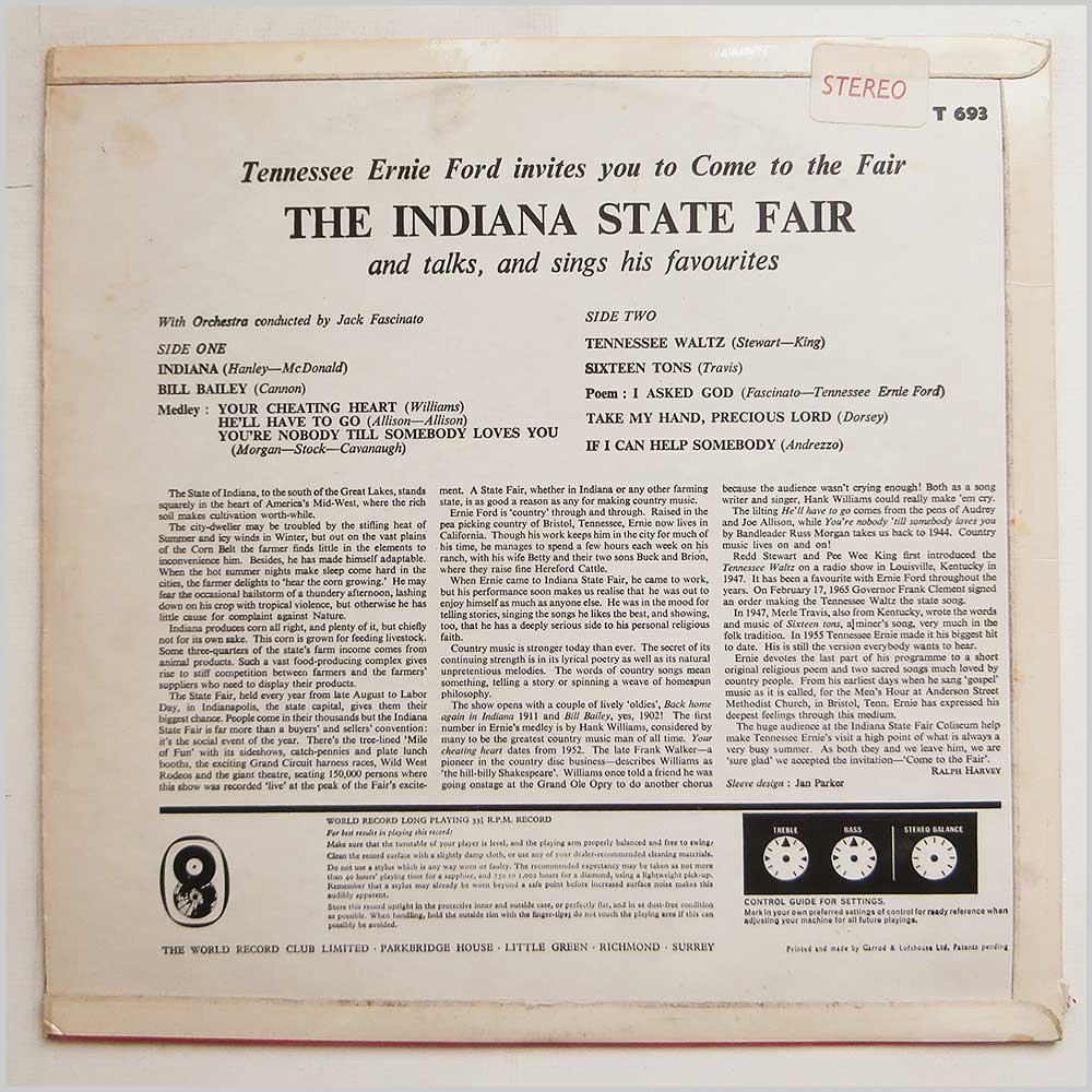 Tennessee Ernie Ford - The Indiana State Fair (T 693)