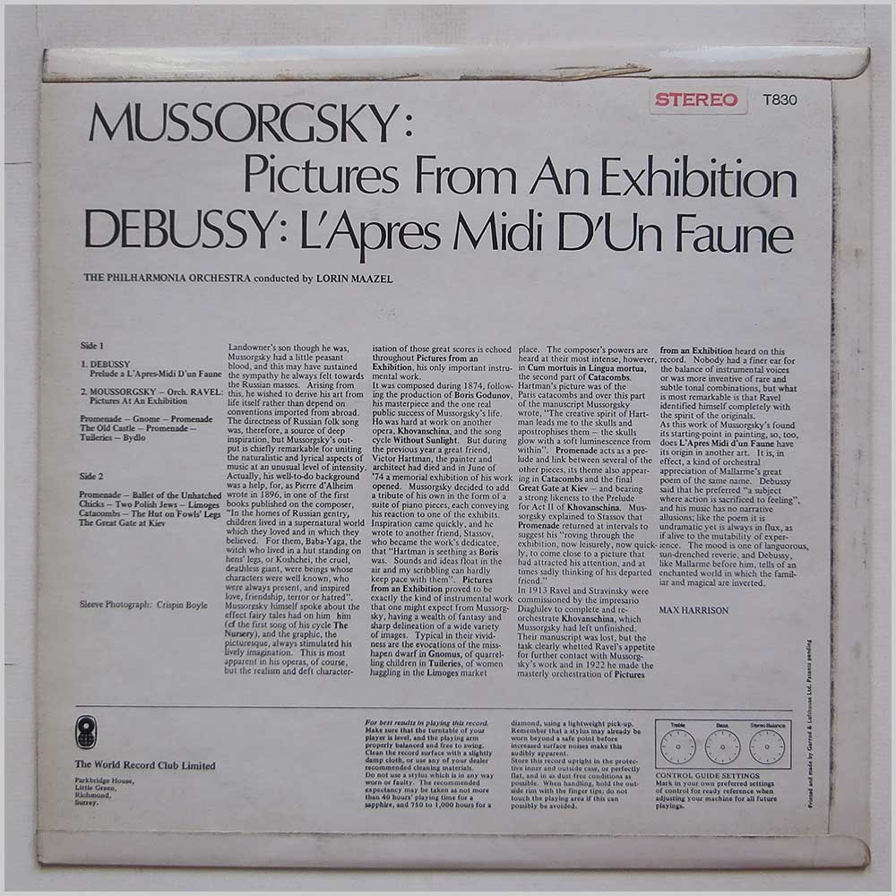 Lorin Maazel - Mussorsky Pictures At An Exhibition (T830)