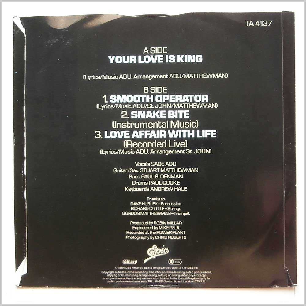 Sade - Your Love Is King (TA 4137)