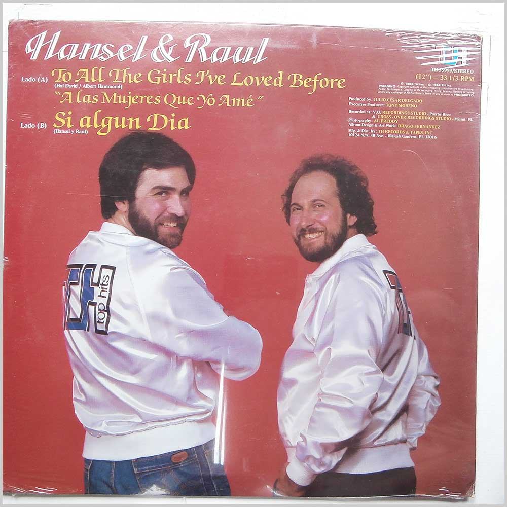 Hansel and Raul - To All The Girls I'Ve Loved Before, A Las Mujeres Que Yo Ame (TH 55999)