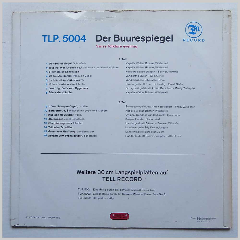 Der Buurespiegel - Swiss Folklore Evening (TLP.5004)
