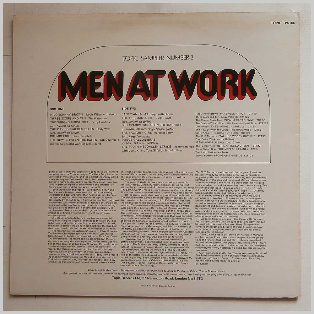 Various - Topic Sampler Number 3: Men At Work (TPS 166)