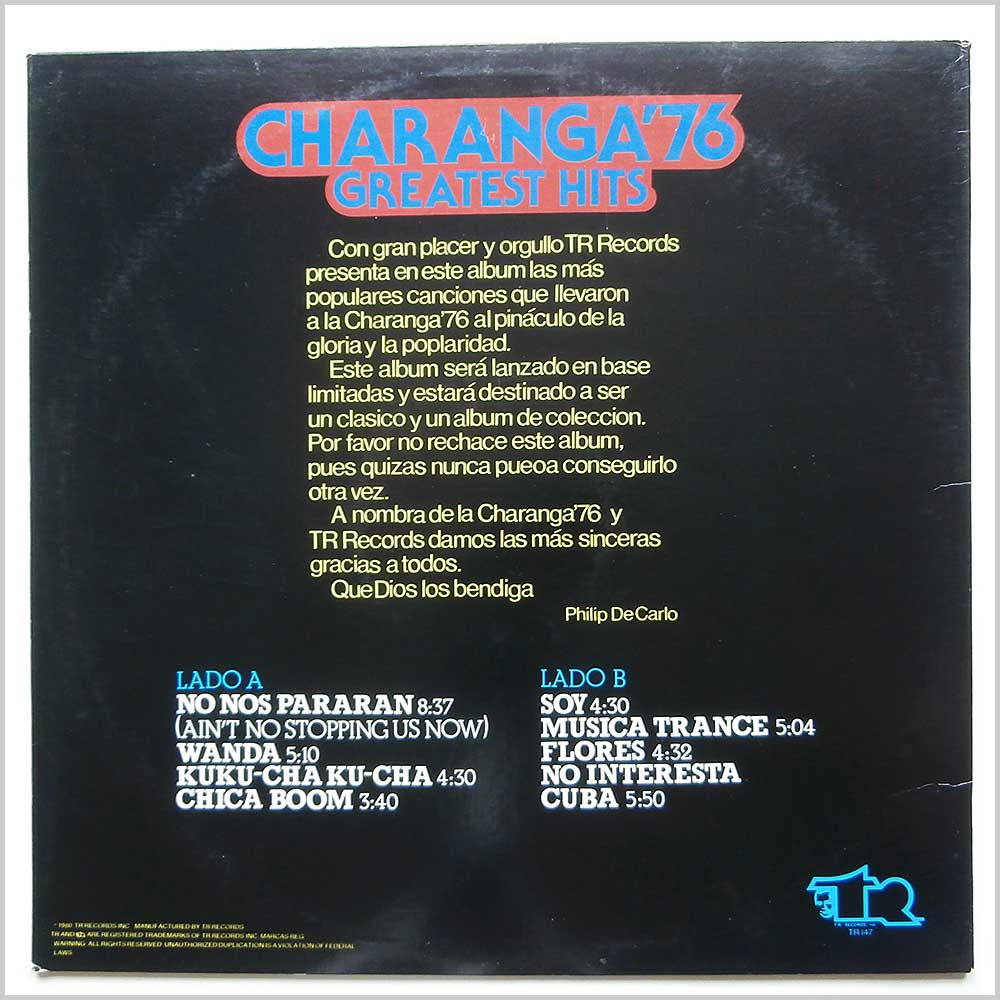 Charanga '76 - Charanga 76 Greatest Hits (TR 147)