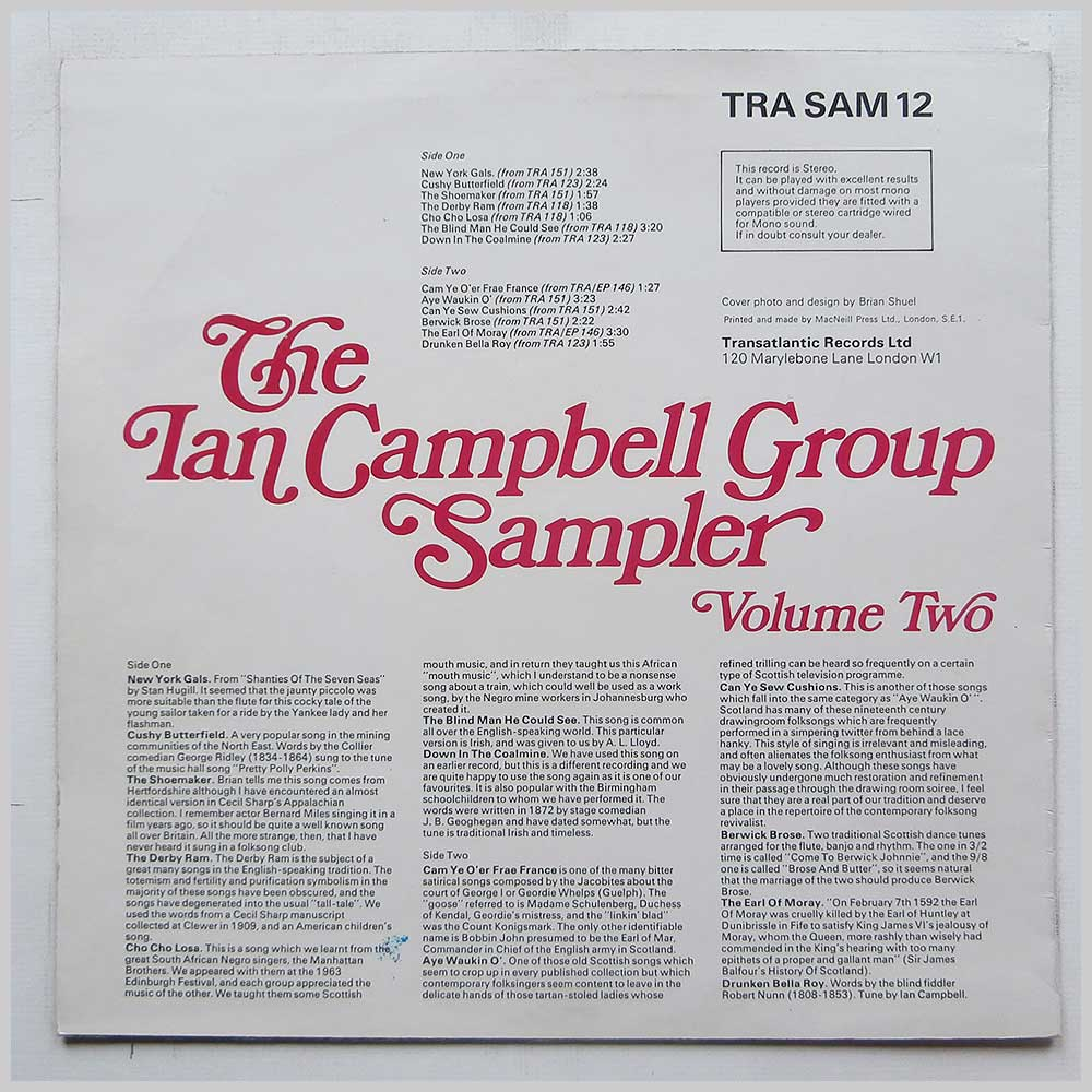 The Ian Campbell Group - The Ian Campbell Group Sampler Volume Two (TRA SAM 12)