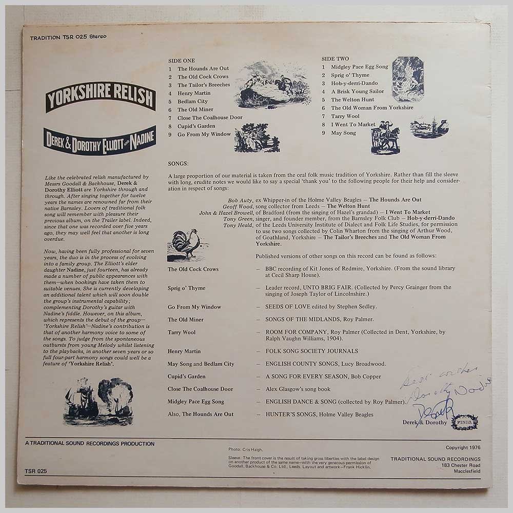 Derek and Dorothy Elliot and Nadine - Yorkshire Relish (TSR 025)