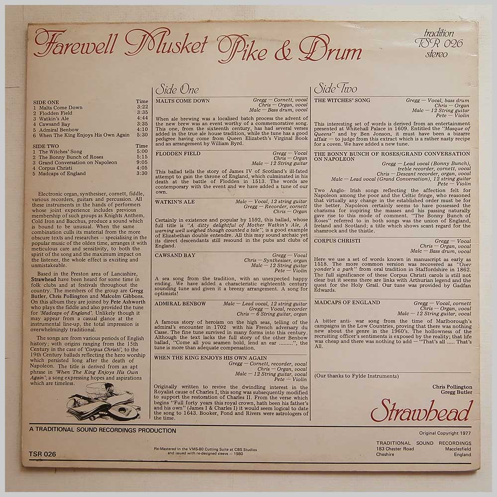 Strawhead - Farewell Musket, Pike And Drum (TSR 026)