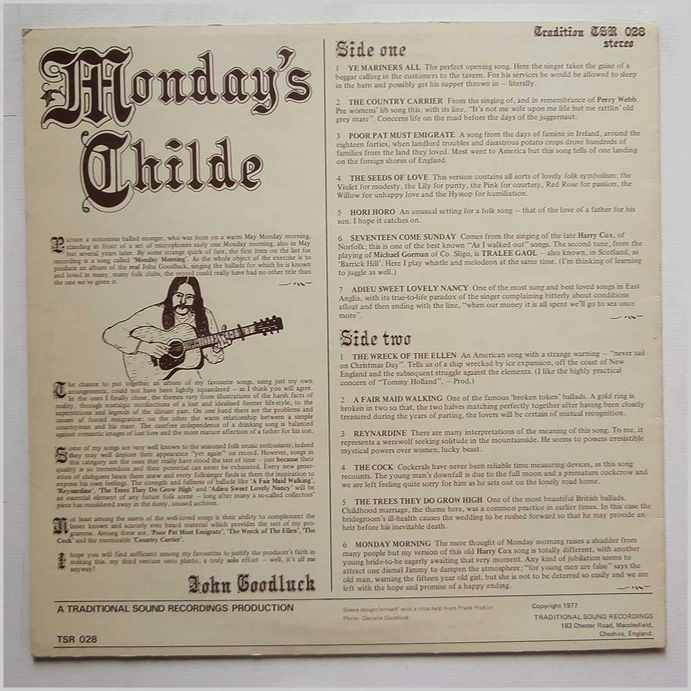 John Goodluck - Mondays Childe (TSR 028)