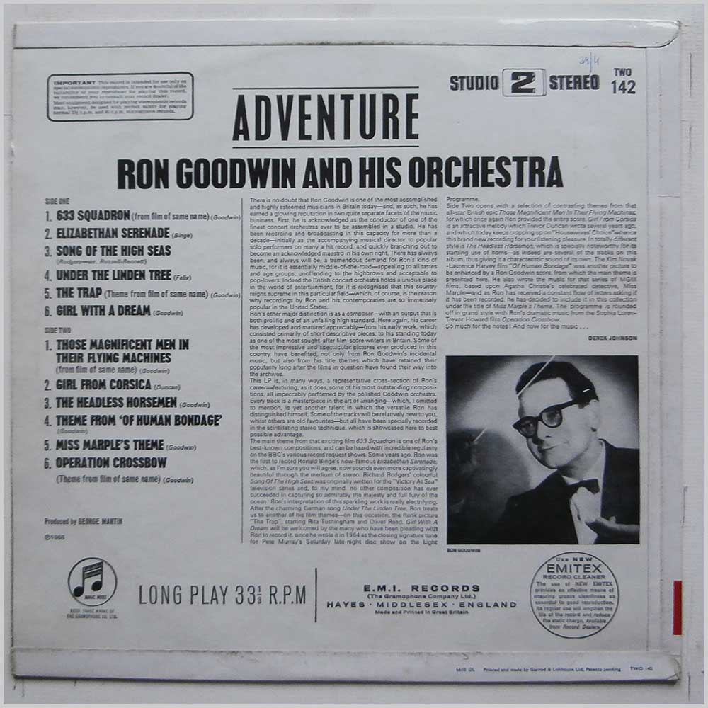 Ron Goodwin and His Orchestra - Adventure (TWO 142)