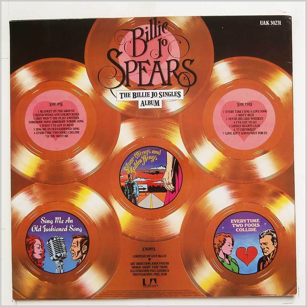 Billie Jo Spears - The Billie Jo Singles Album (UAK 30231)