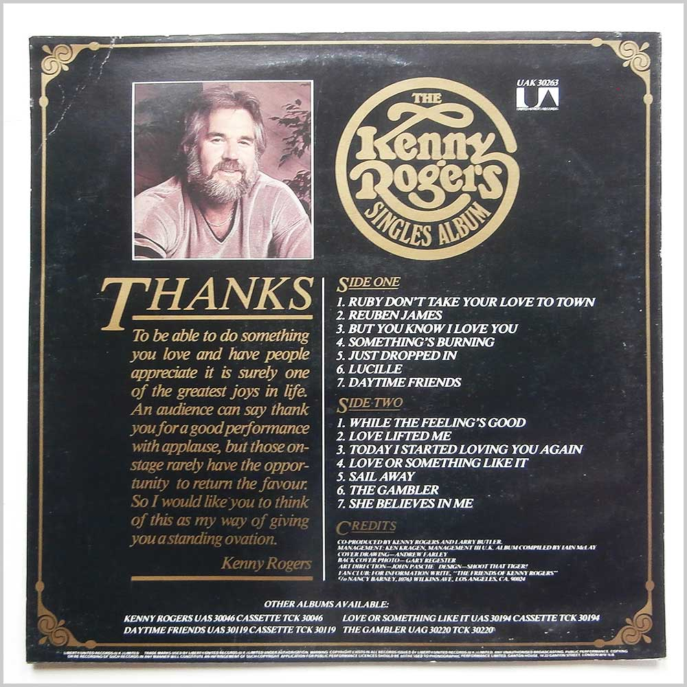 Kenny Rogers - The Kenny Rogers Singles Album (UAK 30263)