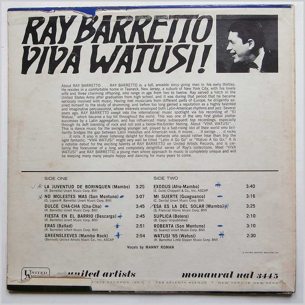 Ray Barretto - Viva Watusi (UAL 3445)