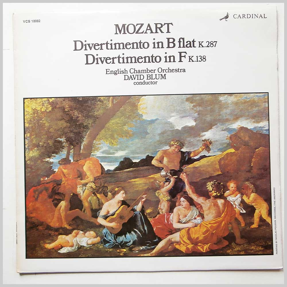 David Blum, English Chamber Orchestra - Mozart: Divertimento in B-Flat K. 287 and F K. 138 (VCS 10082)