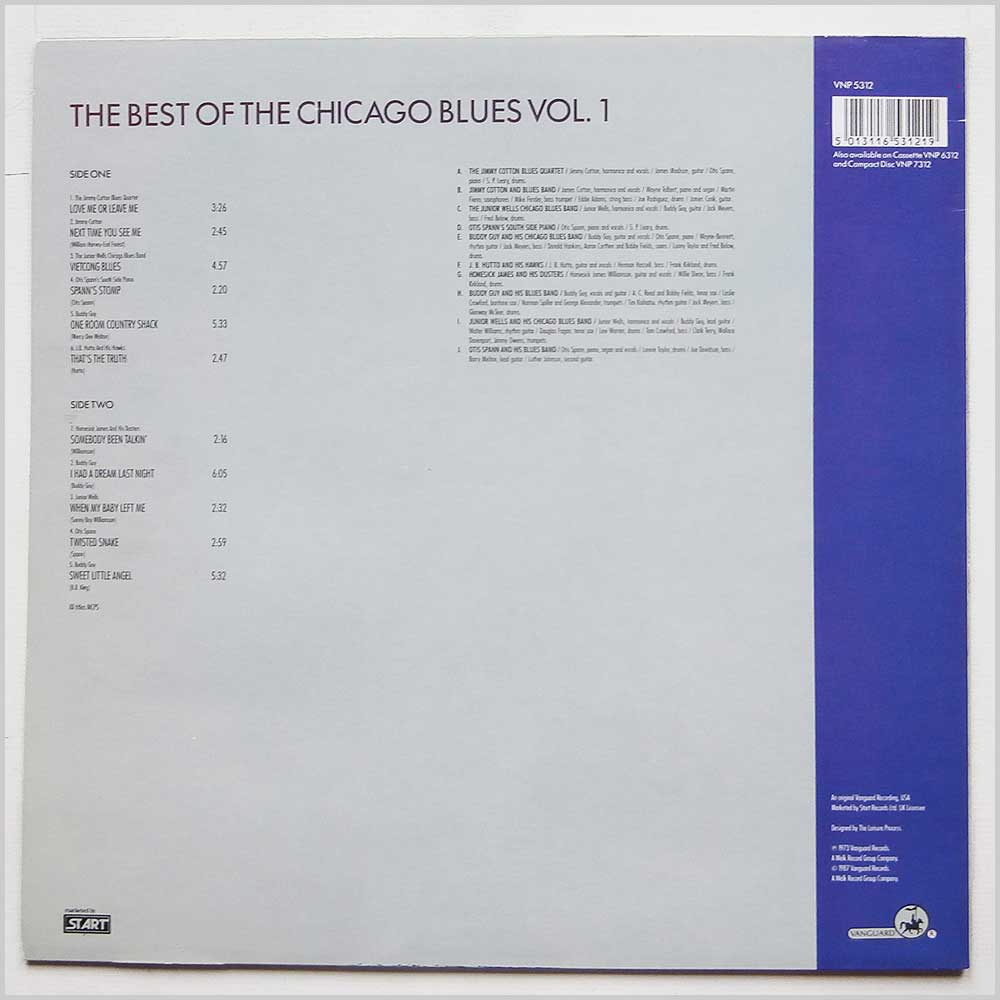 Various - The Best Of The Chicago Blues Volume 1 (VNP 5312)