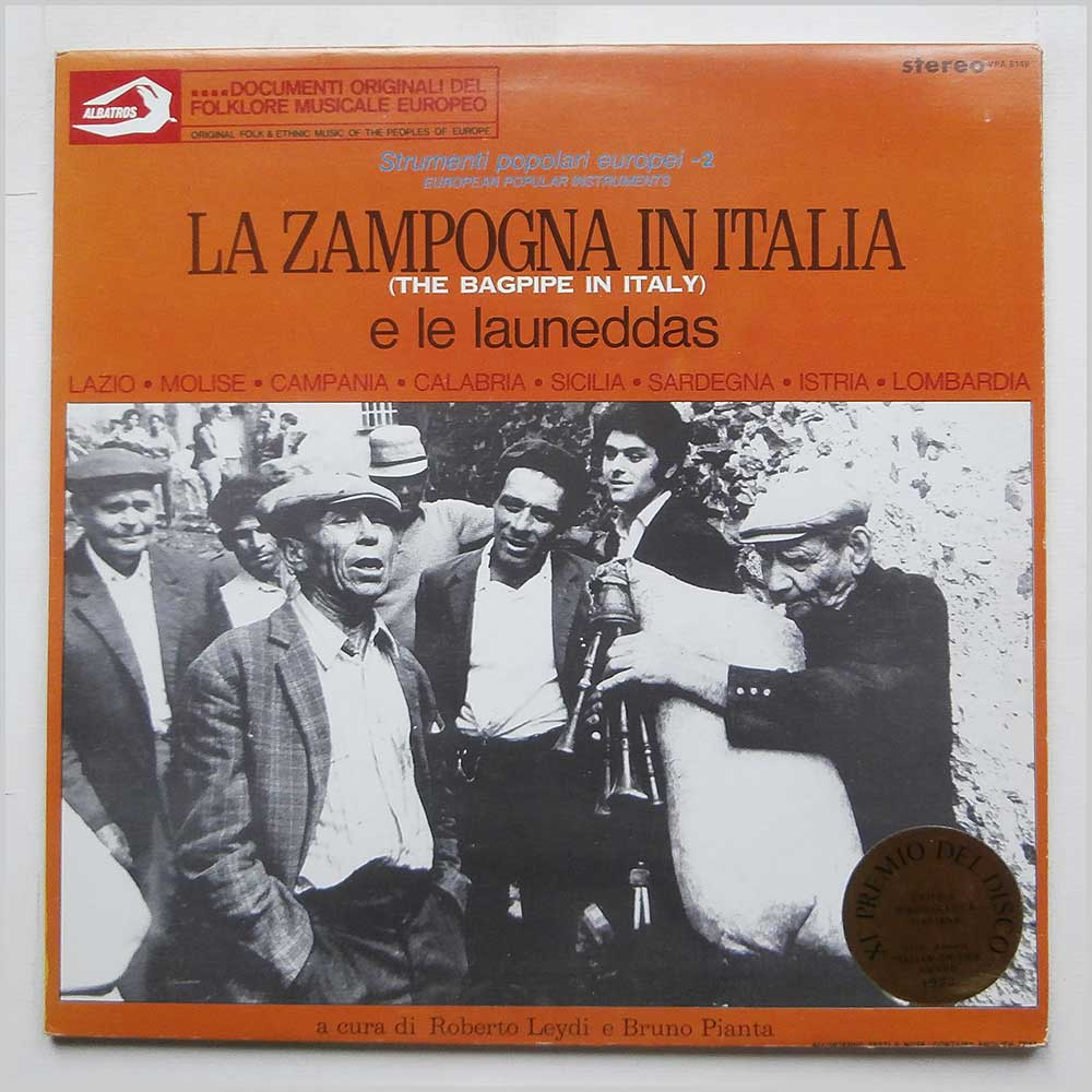 Various - La Zampogna In Italia e le Launeddas (The Bagpipe In Italy) (VPA 8149)