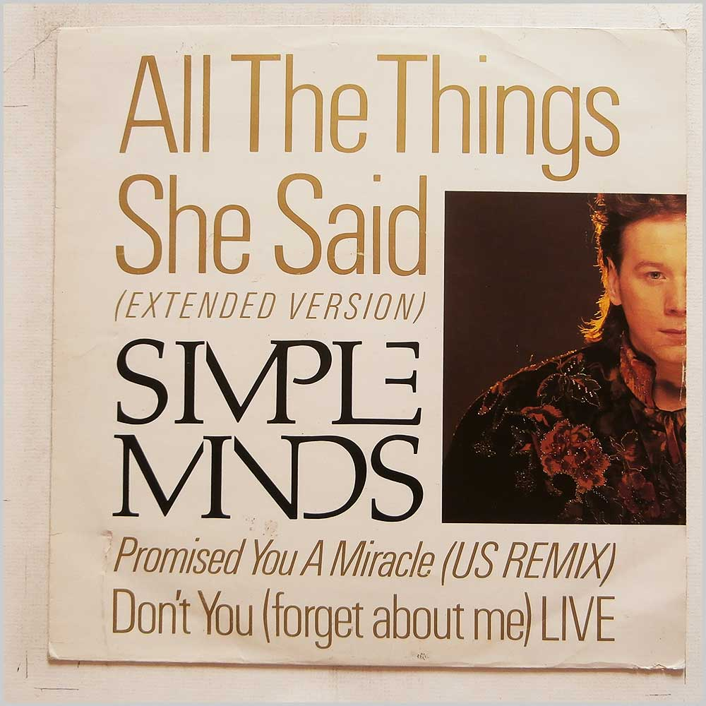 Simple Minds - All The Things She Said (Extended Version) (VS860/12)