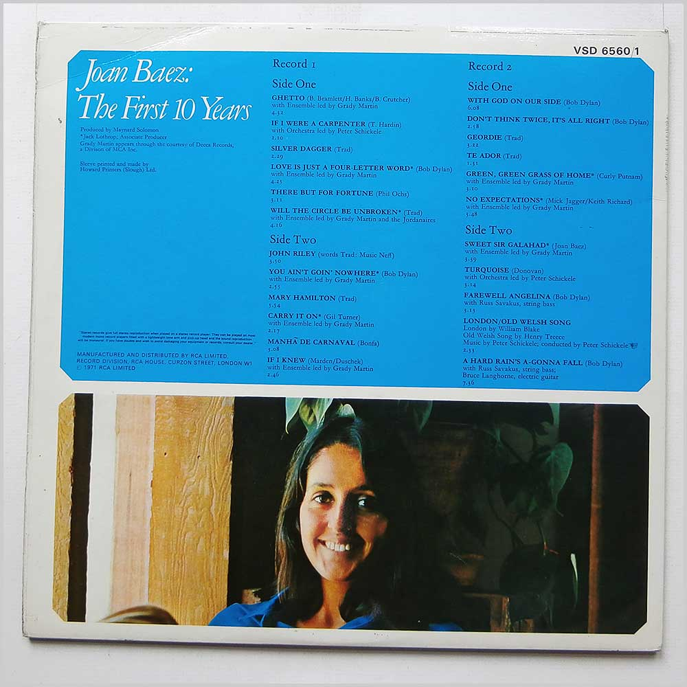Joan Baez - The First Ten Years (VSD 6560/1)