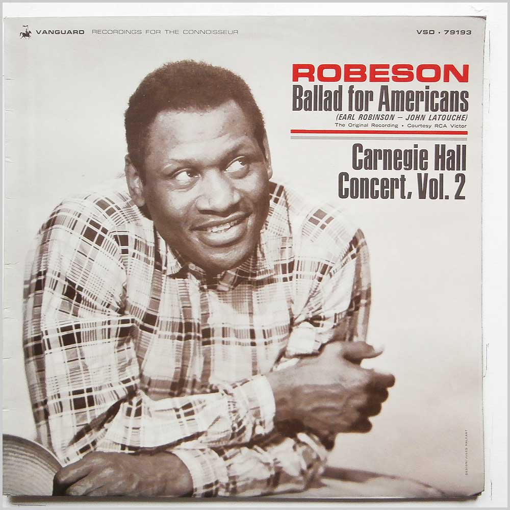 Paul Robeson - Ballad For Americans, Carnegie Hall Concert Vol. 2 (VSD-79193)