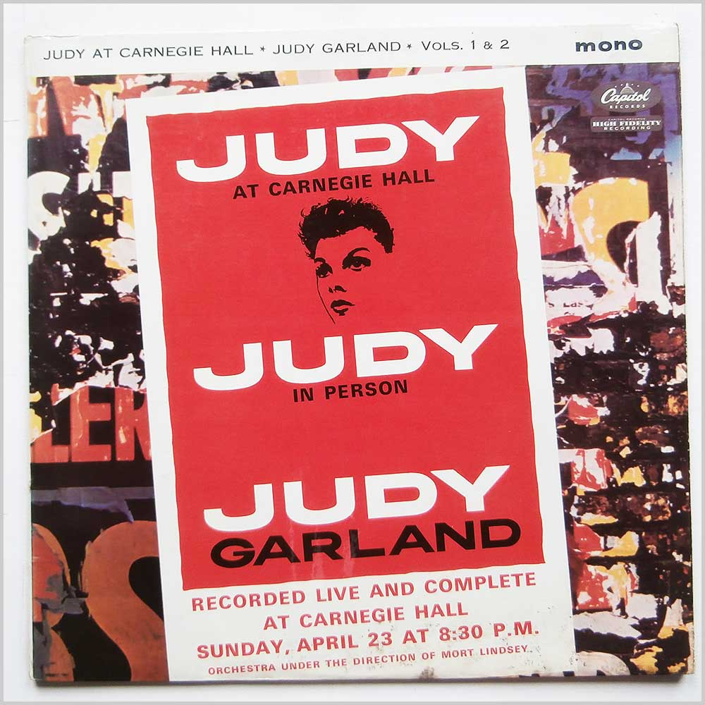Judy Garland - Judy At Carnegie Hall Vols. 1 and 2 (W1-2 1569)