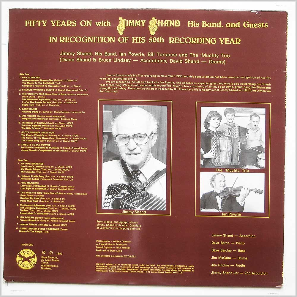 Jimmy Shand - Fifty Years On With Jimmy Shand His Band and Guests (WGR 062)