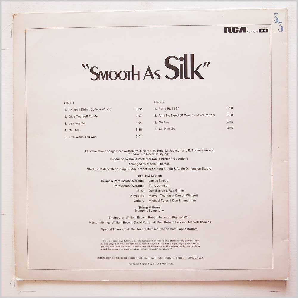 Silk - Smooth As Silk (XL 13039)