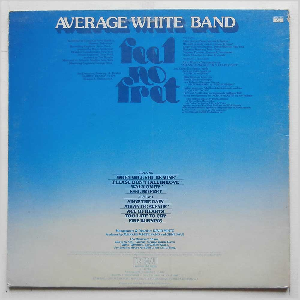 Average White Band - Feel No Fret (XL 13063)