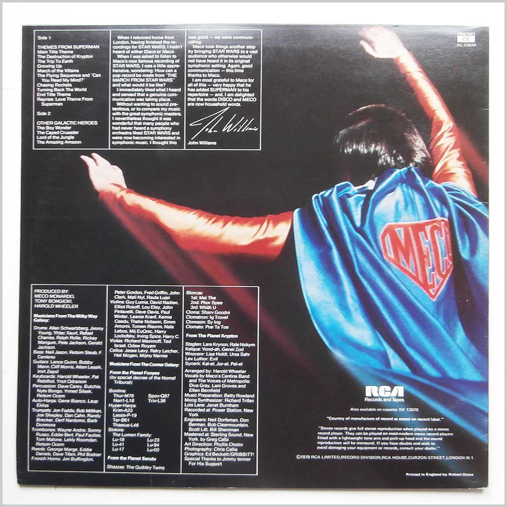 Meco - Superman And Other Galactic Heroes (XL 13070)