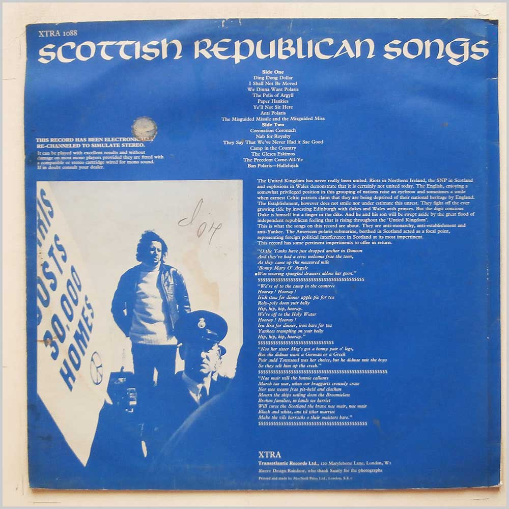 Various - Scottish Republican Songs (XTRA 1088)