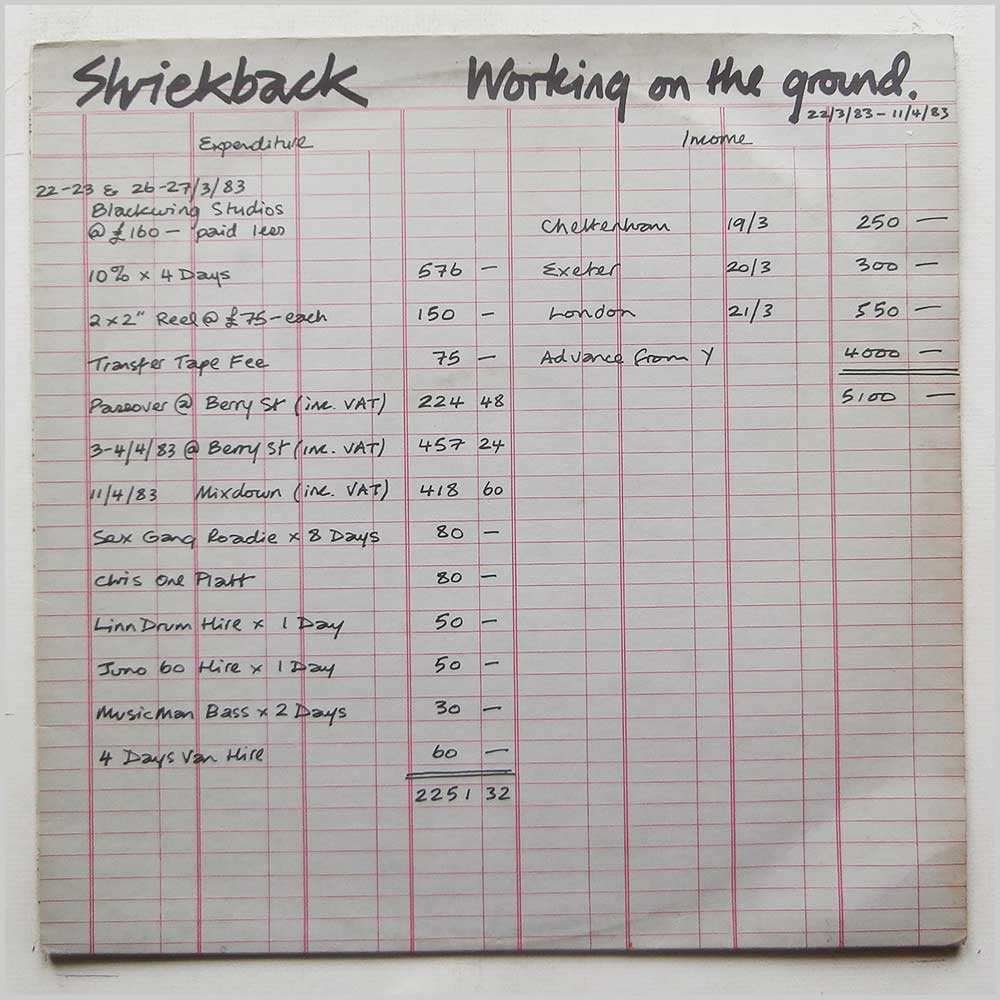 Shriekback - Working On The Ground (YT 104)