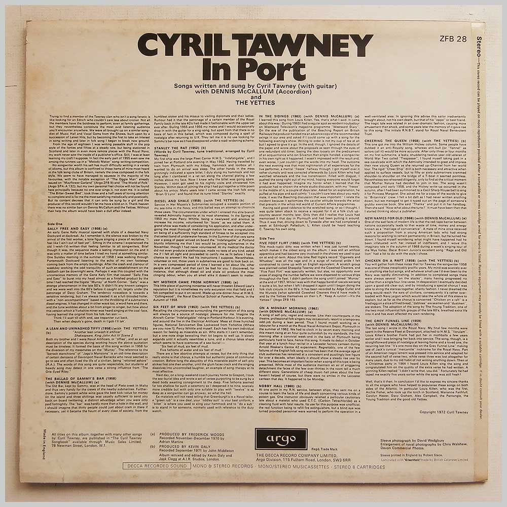 Cyril Tawney - In Port (ZFB 28)
