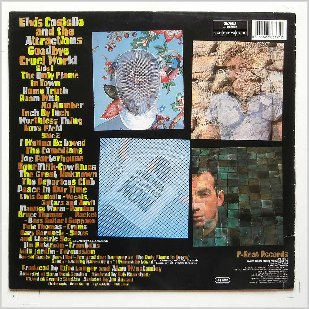 Elvis Costello and The Attractions - Goodbye Cruel World (ZL 70317)